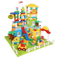 儿童大颗粒积木玩具兼容乐高积木 儿童DIY创意场景玩具 250 颗粒欢乐城堡