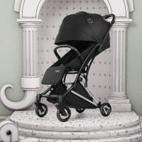 婴儿推车轻便折叠可坐可躺超轻便携小口袋高景观宝宝小推车 黑色 Ⅱ版 现货速发