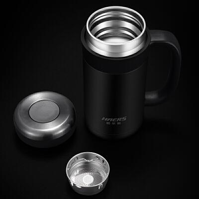 保温杯男女士泡茶水杯子不锈钢水杯带手柄办公室杯