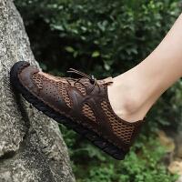 网鞋男夏季速干溯溪鞋男士镂空涉水鞋户外徒步登山鞋大码