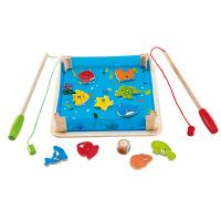Hape海滨钓钓乐3-6岁钓鱼游戏益智早教玩具手动垂钓玩具E8041