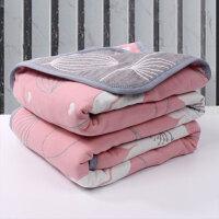 棉毛巾被毯子6层纱布加厚单人双人可盖可铺床单男女款透气y
