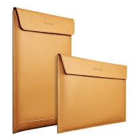 苹果电脑包Macbook Air内胆包11寸pro 13 15笔记本12寸牛皮保护套