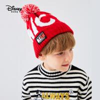 【4折�A估�r:27.7元】迪士尼男童潮酷毛�帽2020新款�和������r尚洋�饪�弁��b帽子