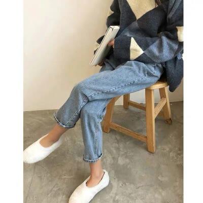 孕妇裤子秋季外穿牛仔裤九分冬季长裤冬装加绒加厚小脚打底裤