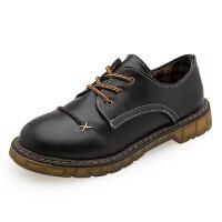 马丁鞋女日系新款单鞋简约学院风女生小皮鞋夏复古圆头牛津鞋