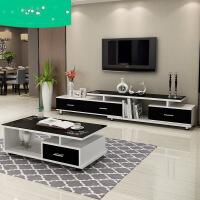 【支持礼品卡】钢化玻璃伸缩茶几电视柜组合现代简约欧式小户型客厅迷你电视机柜3pg