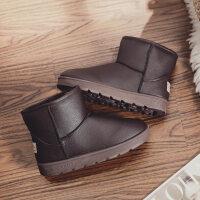 冬季2018水皮面雪地靴学生短靴加绒加厚保暖棉鞋