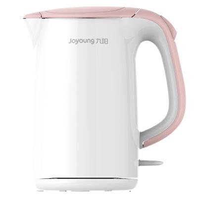 九阳(Joyoung) 电热水壶烧水防烫开水煲电水壶304不锈钢1.7L K17-F802 1.7升大容量,双层防烫