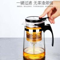 飘逸杯耐热全拆洗功夫泡茶壶家用冲茶器过滤内胆玻璃茶壶套装茶具