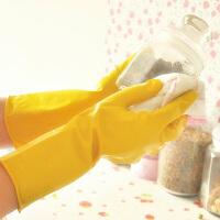 (PU RUN) 乳胶家务手套防滑清洁手套洗衣手套 短款 颜色随机
