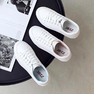ZHR2019春季新款韩版小白鞋女平底百搭休闲鞋网红单鞋学生女鞋子