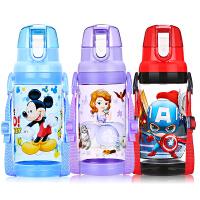 新款儿童水杯卡通米奇小学生塑料杯运动直饮杯子夏季水壶