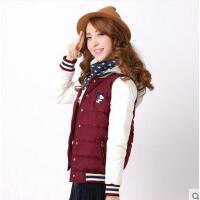 少女韩版学生女连帽短款修身学院风加厚棉衣女