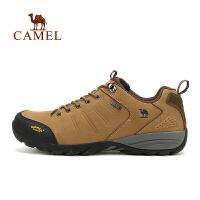 camel骆驼户外情侣款徒步鞋 秋季新款磨砂牛皮男女登山徒步鞋
