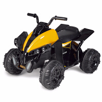 儿童电动摩托车沙滩车4轮小孩童车充电车可坐人车5岁超大 黄黑色