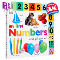 【中商原版】My First Numbers Let's Get Counting DK启蒙数数 低幼亲子启蒙绘本 纸板