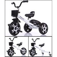 儿童三轮车宝宝脚踏车多功能玩具车童车小孩自行车4-8岁溜娃车 米奇轮白色三功能 大版