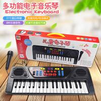 儿童钢琴麦克风可充电8电子琴初学益智10女孩玩具男孩3-6周岁