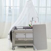 婴儿床欧式便携游戏床bb宝宝床多功能折叠床拼接大床带蚊帐