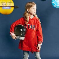 davebella戴维贝拉Kids春季新款女童卫衣中大童裙式上衣DBK10710