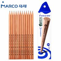 MARCO/马可 6001-12CB 原木书写铅笔12支装/HB 无铅毒六角木杆小学生用作业考试练字笔套装速写笔儿童绘