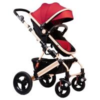 婴儿推车高景观可坐可躺双向折叠四轮避震新生儿宝宝手推车