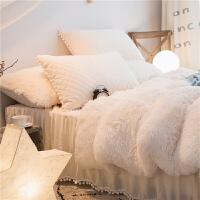 冬季珊瑚绒四件套双面绒法兰绒公主风加厚保暖床裙夹棉床裙款床品k