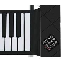手卷电子琴 手卷新款88键家用初学者便携式加厚版折叠软键盘电子钢琴