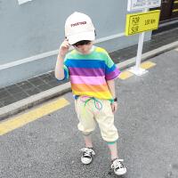 童装男童短袖套装夏装中小童夏季儿童两件套