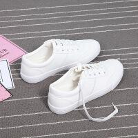 春季皮面板鞋百搭小白鞋女平底大码40 码女鞋平底休闲鞋