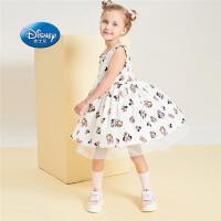 迪士尼宝宝童装女童学院风无袖连衣裙2020夏季新款儿童公主裙洋气