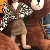 网红2018秋冬新款两件套装毛衣裙子可爱精神俏皮帅气女时尚冬装
