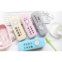 创意文具盒笔袋韩国简约女生小清新可爱学生文具收纳盒 大号