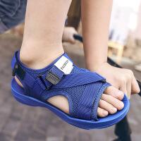 夏季儿童凉鞋男童魔术贴沙滩鞋露趾防滑大童凉鞋