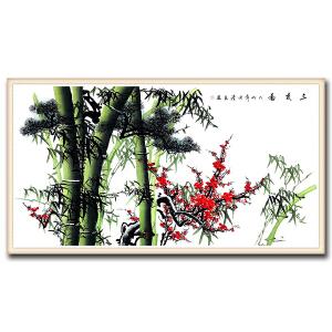 中国国画家协会会员  杜清友 《三友图》 DW146