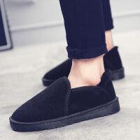 雪地靴男冬季棉鞋韩版加绒保暖面包鞋男款短靴子低帮板鞋
