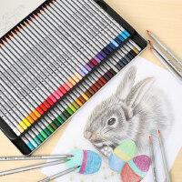 马可彩铅手绘72色油性彩色铅笔马克48色画画套装初学者美术专业绘画水溶性彩铅笔120色学生用雷诺阿画笔成人