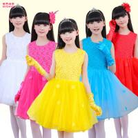 女孩跳舞纱裙幼儿舞蹈演出服装儿童节表演服女童公主裙蓬蓬裙