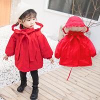 女宝宝冬装加厚棉衣外套1岁2女童加绒棉袄儿童3婴儿0冬季