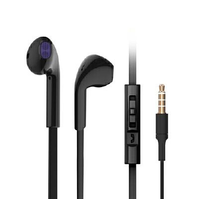 趣铭 入耳式耳机运动跑步耳麦音乐mp3游戏重低音线控耳机耳塞手机电脑通用 典雅黑-带麦线控带麦通用3.5接口耳机