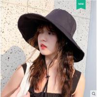 出放防晒遮阳帽女网红同款时尚户外新品休闲百搭大沿韩版渔夫帽潮款小清新帽子