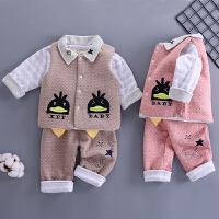 新生儿衣服0-3个月内衣套装6初生婴儿三件套春秋