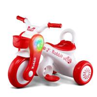 儿童电动摩托车可坐人三轮电动车带音乐灯光小孩玩具车3-6岁