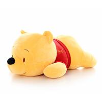 趴趴熊公仔羽绒棉小熊维尼毛绒玩具抱枕大号布娃娃儿童女生日礼物 黄色