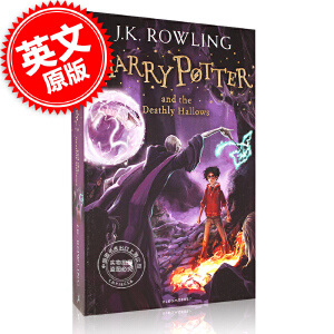 预售 英文原版 哈利波特与死亡圣器 Harry Potter and the Deathly Hallows 哈利波特 7 哈利波特系列小说 第七部 英国版 JK罗琳