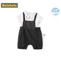 巴拉巴拉新生婴儿儿童衣服男童宝宝连体衣外出爬爬服满月服时尚潮