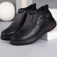 老北京布鞋男款棉鞋冬季加厚保暖羊毛鞋中老年软底舒适老人爸爸鞋