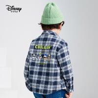 【3件3折券后预估价:78.9元】迪士尼男童梭织长袖衬衫秋冬新款童装帅气格子衫加绒儿童宝宝外套