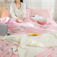 少女心纯棉四件套全棉被单被套床单人床上用品三件套小清新1.8米定制